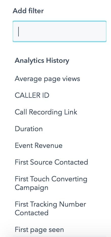 call analytics in hubspot platform