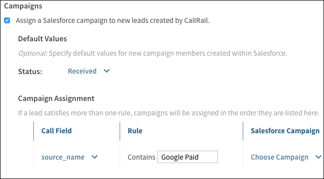 Assigning Campaigns