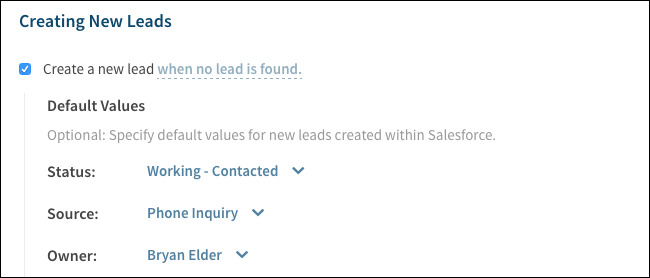 Creating New Leads
