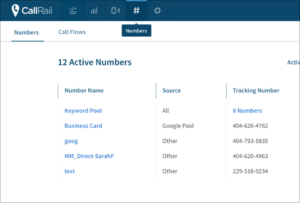 phone numbers for different marketing campaigns