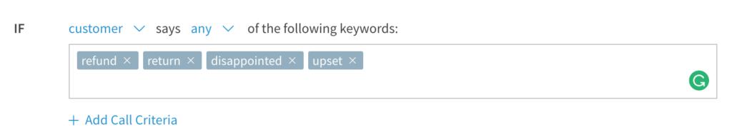 Setting up keyword rules for keyword spotting