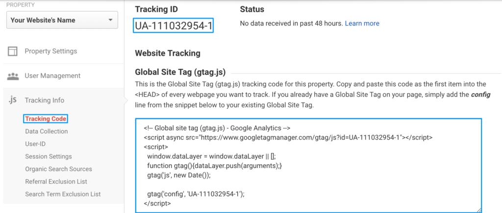 Google Analytics Universal Tracking Code