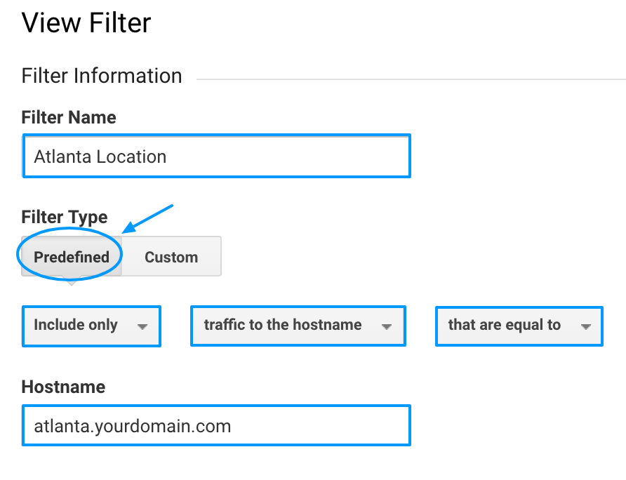Google Analytics create a filter for views