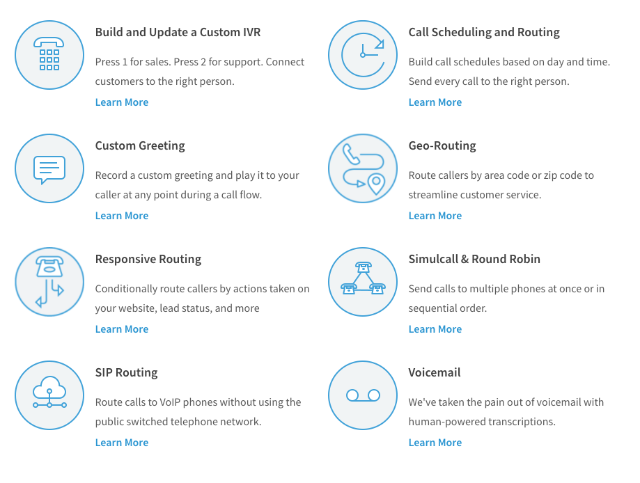 CallRail's call routing features.