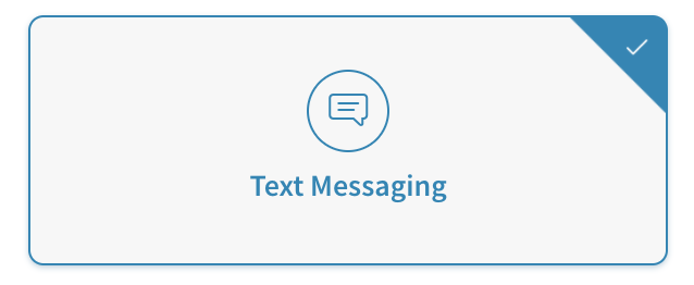 Text messaging sent to tracking numbers
