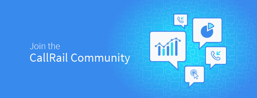 link to callrail community forum, where data-driven marketers gather to share insights