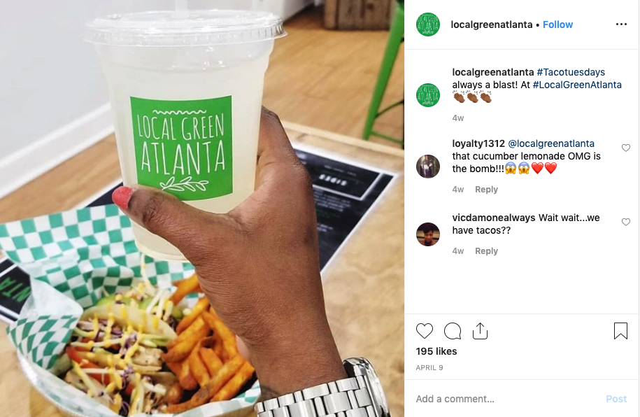 Local Green Atlanta on instagram